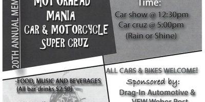 Motorhead Mania Car & Motorcycle Super Cruise